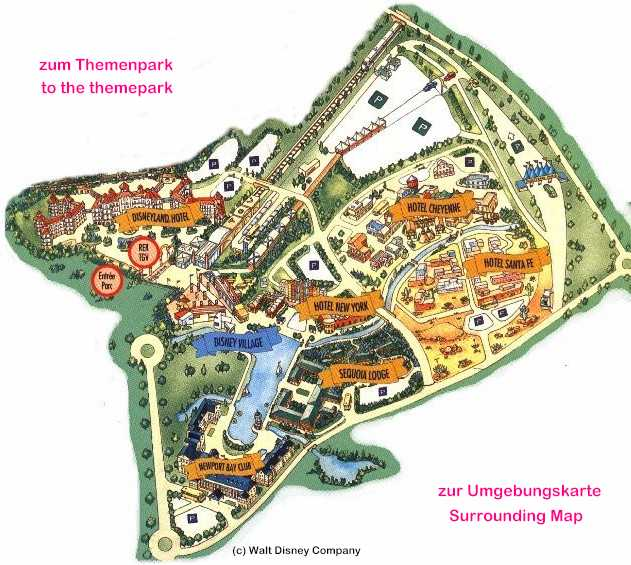Disneyland Paris virtual tour – Map of Paris with Hotels